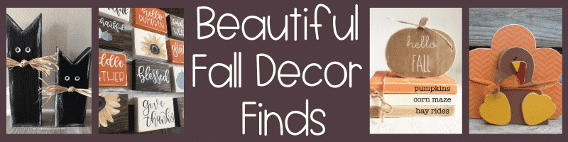 Beautiful Fall Decor Finds - beautiful options for your fall decor!