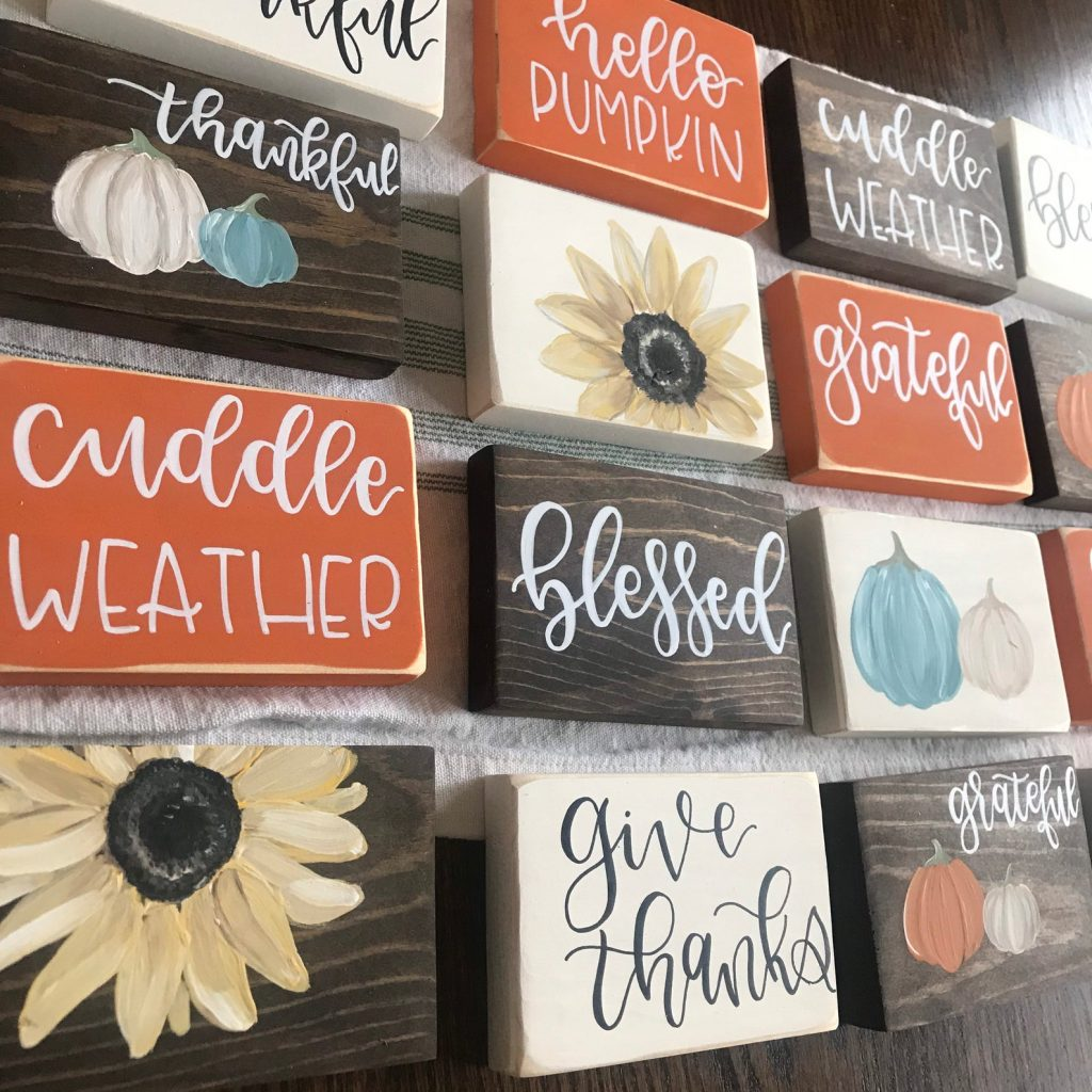 Beautiful Fall Decor Finds - Wooden Sign