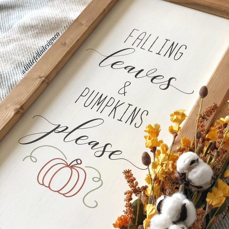 Beautiful Fall Decor Finds - Fall Signs