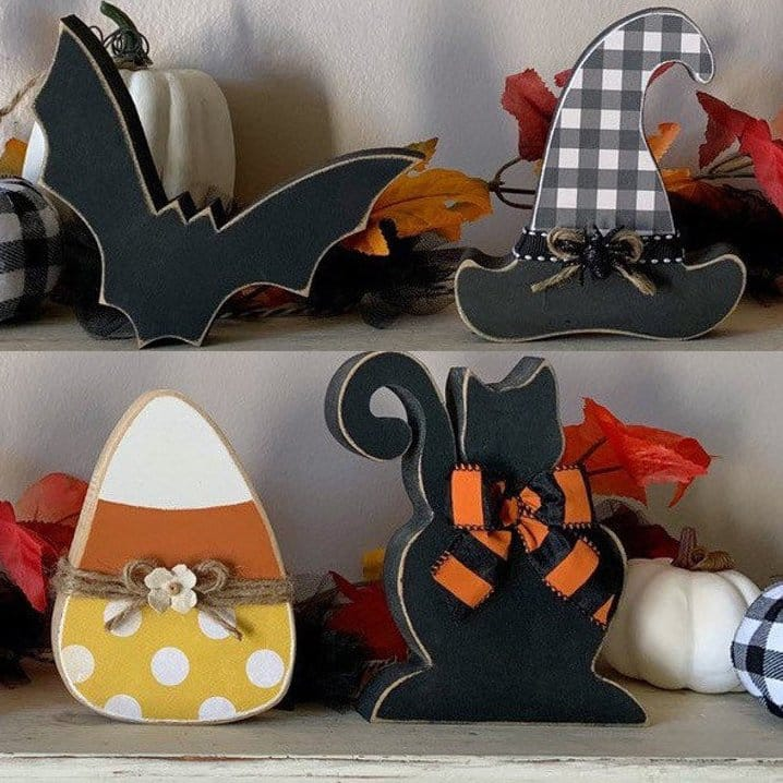 Beautiful Fall Decor Finds - Wooden Halloween Decor